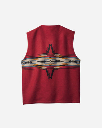 ADDITIONAL VIEW OF MEN'S CHIEF STAR VEST IN BLACK/RED