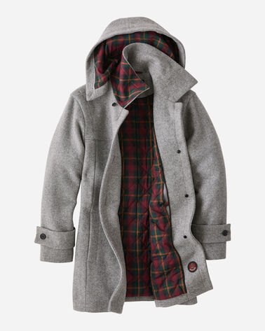 ALTERNATE VIEW OF WOMEN'S BOOTH BAY INSULATED WOOL COAT IN FALCON GREY