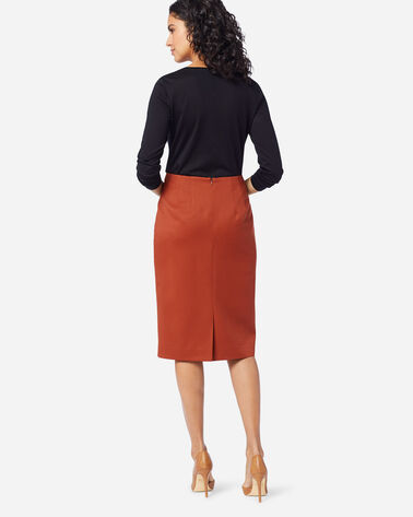 ADDITIONAL VIEW OF SEASONLESS WOOL PENCIL SKIRT IN PICANTE