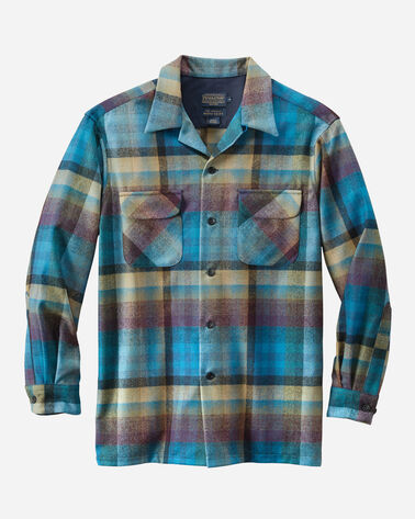 MEN'S BOARD SHIRT, TURQUOISE/TAN OMBRE, large