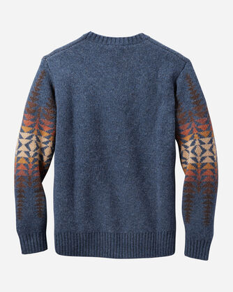 ALTERNATE VIEW OF MEN'S SHETLAND HARDING CREWNECK IN NAVY