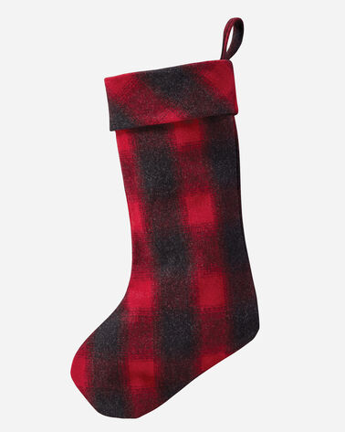 PLAID WOOL STOCKING, RED ROB ROY TARTAN, large