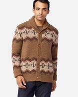 MEN'S SONORA LAMBSWOOL CARDIGAN IN TAN