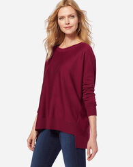 EASY-FIT MERINO PULLOVER, POMEGRANATE, large