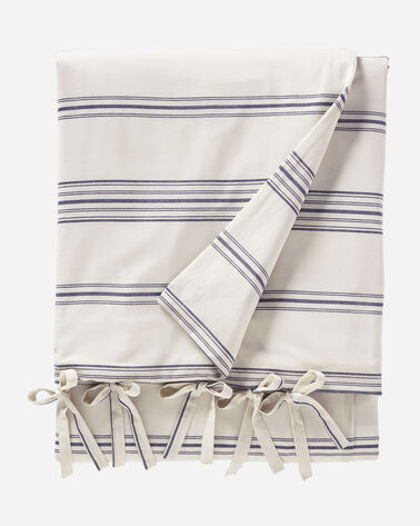 TICKING STRIPE DUVET COVER SET IN IVORY