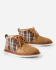 NEUMAL PLAID HIGH TOPS, CHESTNUT, large