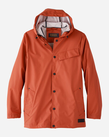 MEN'S CARAVEL RAIN SLICKER IN RUST
