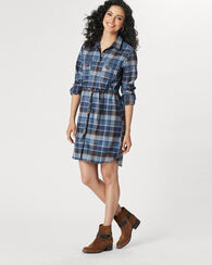 AINSWORTH DRESS, BLUE BLOCK PLAID, large