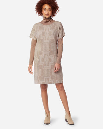 ADDITIONAL VIEW OF HARDING MERINO SWEATER DRESS IN TAUPE/SANDSHELL