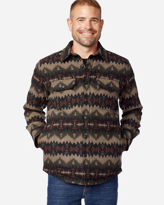 ALTERNATE VIEW OF MEN'S SONORA JACQUARD QUILTED SHIRT JAC IN OLIVE