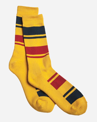 NATIONAL PARK STRIPE CREW SOCKS IN YELLOWSTONE