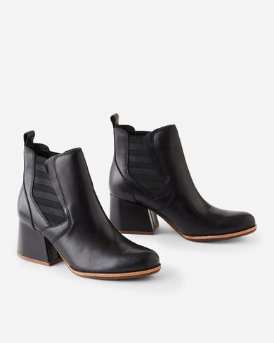 ALBIN LEATHER BOOTIES, BLACK, large