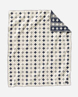 MERIDIAN CROSSING THROW IN WHITE/GREY/NAVY