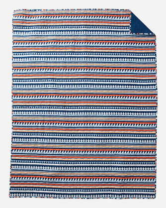 ADDITIONAL VIEW OF TAMIAMI PRINTED COVERLET SET IN MULTI