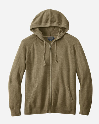 MERINO MAGIC-WASH ZIP HOODIE, OLIVE, large