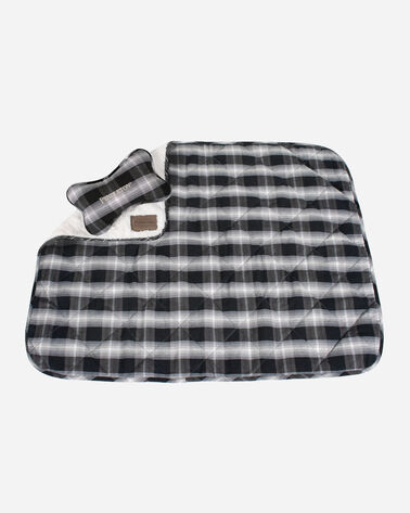 ALTERNATE VIEW OF CLASSIC PLAID THROW AND TOY IN CHARCOAL OMBRE PLAID