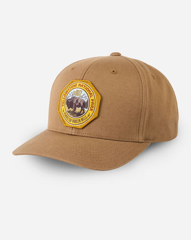 NATIONAL PARK HAT IN DARK TAN YELLOWSTONE