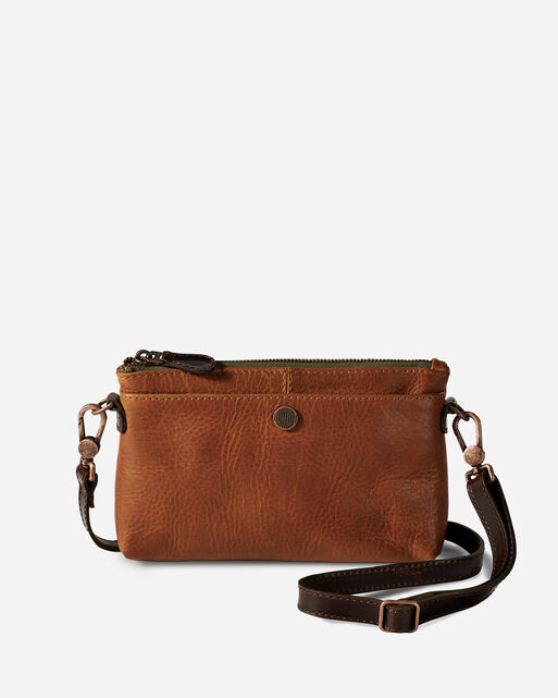 LEATHER CROSSBODY BAG, TAN, large