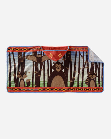 WOODLAND NEIGHBORS HOODED TOWEL