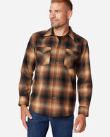 MEN'S SNAP-FRONT WESTERN CANYON SHIRT IN BROWN/RUST OMBRE