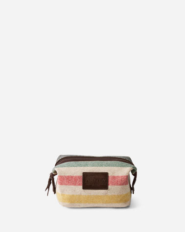 GLACIER STRIPE ESSENTIALS POUCH IN IVORY