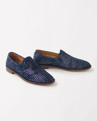 PERFORATED SUEDE ALI LOAFERS, NAVY, large