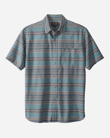 MEN'S FITTED KAY STREET STRIPE SHIRT, SILVER PINE, large