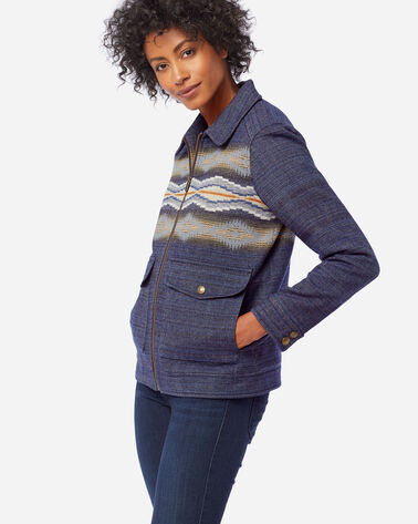 WOMEN'S STANA WOOL JACKET IN CRESCENT BAY NAVY