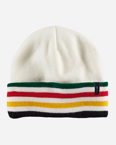 NATIONAL PARK STRIPE BEANIE IN GLACIER IVORY