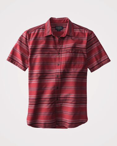 FITTED KAY STREET STRIPE SHIRT, RED STRIPE, large