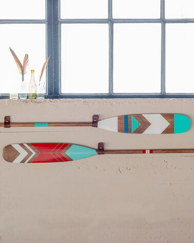 HAND PAINTED WALNUT PADDLE, AZTEC, large