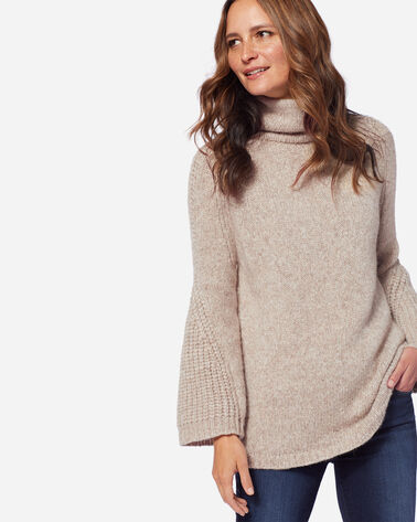 LUXE COWLNECK SWEATER, NATURAL, large