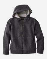 KIDS' LOGO ZIP HOODIE IN GRAND CANYON CHARCOAL