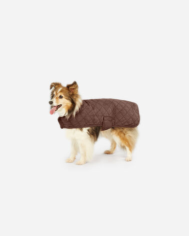 SMALL PLAID DOG COAT, RED OMBRE, large