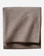 ECO-WISE WOOL SOLID BLANKET IN FAWN HEATHER