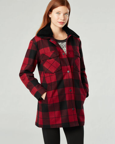 PENDLETON SIGNATURE CHEYENNE COAT, RED TARTAN, large