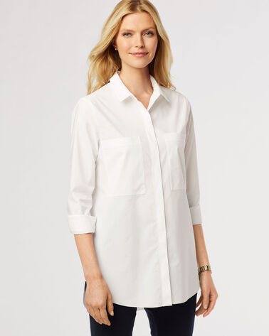 ESSENTIAL TUNIC, WHITE, large