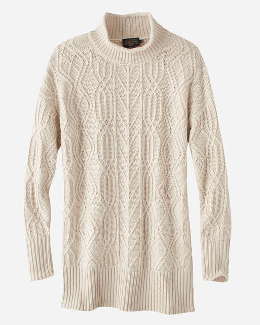 FUNNEL NECK CABLE PULLOVER