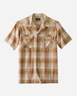 MEN'S SHORT-SLEEVE BOARD SHIRT IN COPPER PLAID