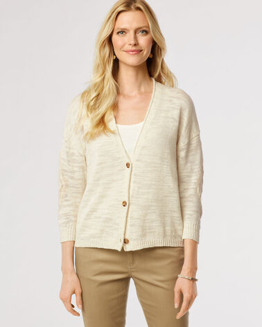 DIAMOND CROSS CARDI, IVORY/VANILLA, large