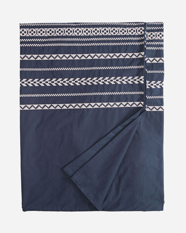 BOHEMIAN FAIR ISLE DUVET COVER SET, INDIGO, large