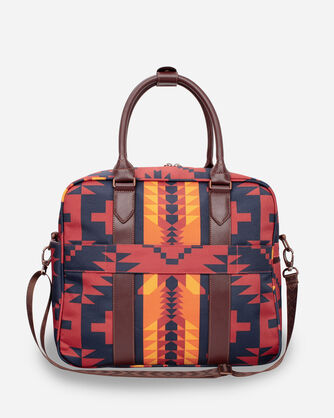 ALTERNATE VIEW OF SPIDER ROCK WEEKENDER BAG IN RUST/NAVY
