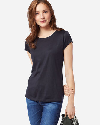 WOMEN'S MACHINE WASHABLE SHORT SLEEVE MERINO TEE