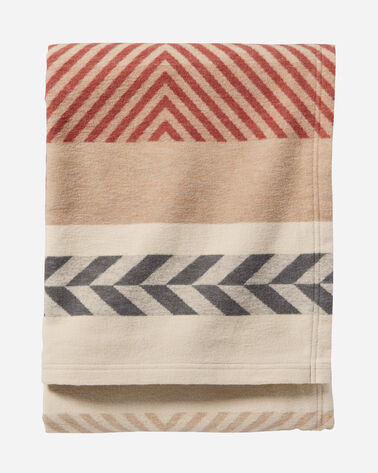 ADDITIONAL VIEW OF MOJAVE TWILL ORGANIC COTTON BLANKET IN CLAY