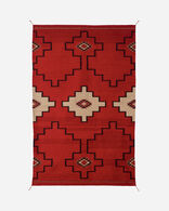 STEPS TO THE SKY RUG IN RED/BLACK