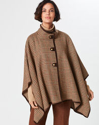 WILDWOOD CAPE, BROWN MULTI GLEN PLAID, large