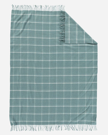 ADDITIONAL VIEW OF 5TH AVENUE WINDOWPANE MERINO THROW IN SHALE