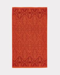 PECOS SCULPTED HAND TOWEL, CAYENNE, large