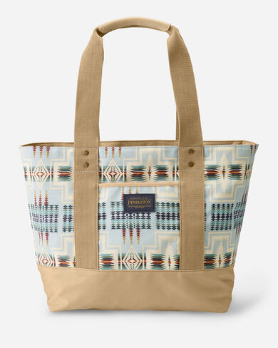 HARDING CANOPY CANVAS TOTE IN AQUA
