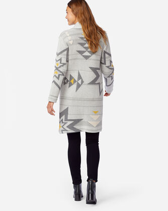 ALTERNATE VIEW OF WOMEN'S SWEATER COAT IN GREY PLAINS STAR